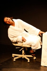 Jaye Griffiths on stage in New York City at the Brits Off Broadway festival, 59E59 Theatres, April 2014