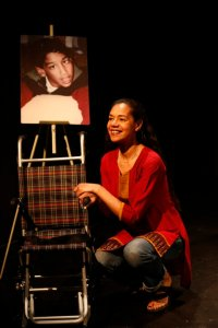Jaye Griffiths on stage in New York City at the Brits Off Broadway festival, 59E59 Theatres